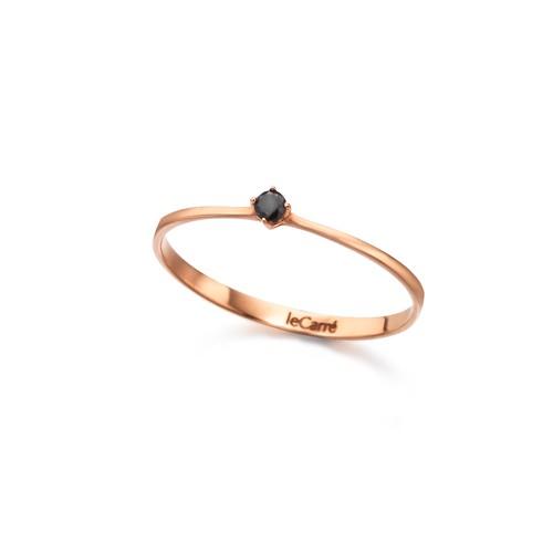 Anillo Oro Rosa LeCarré Diamante Negro