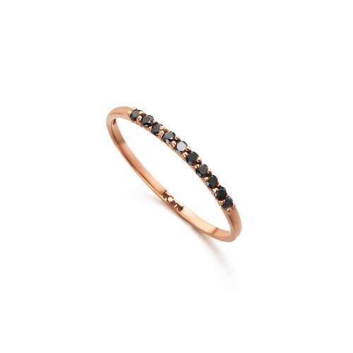 Anillo Oro Rosa LeCarré Diamantes Negros