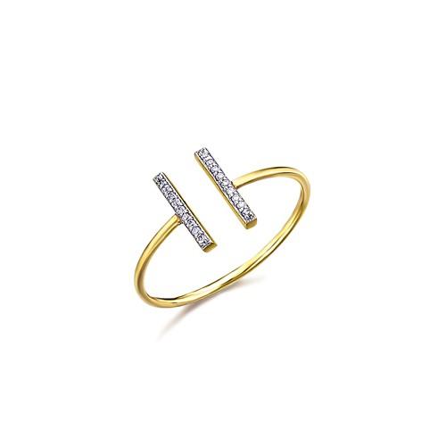 Anillo Oro LeCarré Barritas Diamantes