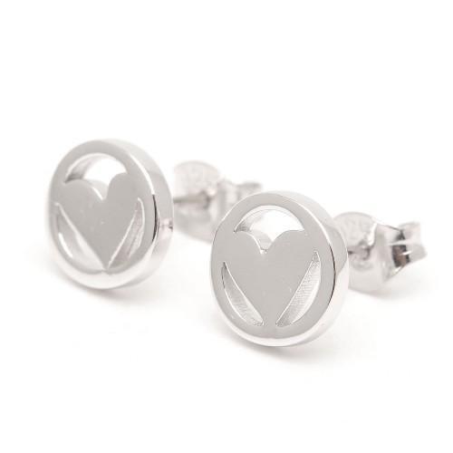 Pendientes Plata Agatha Corazón