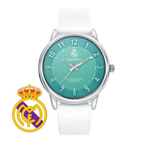 Reloj Chica Real Madrid Turquesa Correa Blanca