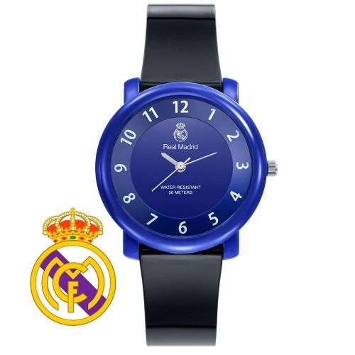 Reloj Chica Real Madrid Azul Correa Negra