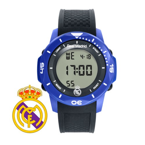 Reloj Chico Real Madrid Digital Azul Correa Negra
