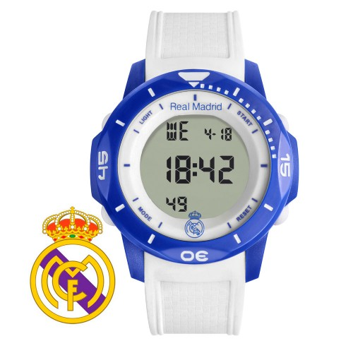 Reloj Chico Real Madrid Digital Azul Correa Blanca