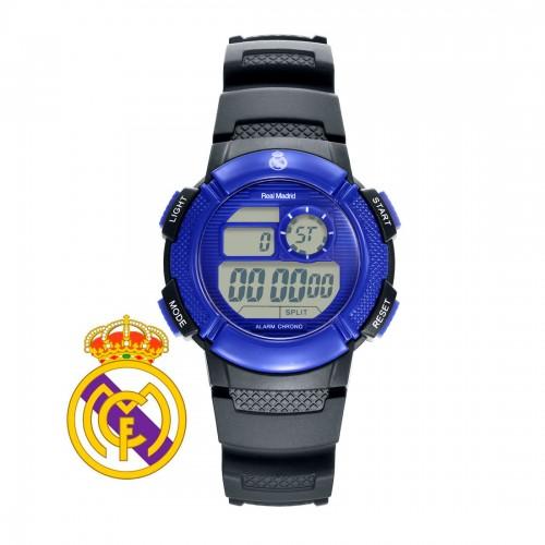 Reloj Real Madrid Digital Azul Correa Negra