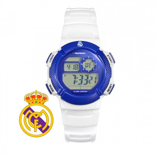 Reloj Real Madrid Digital Azul Correa Blanca