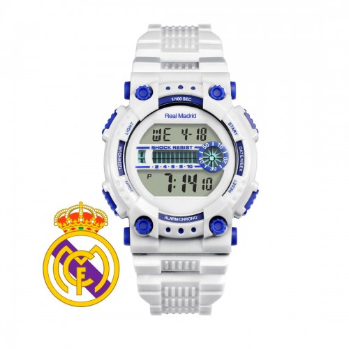 Reloj Real Madrid Digital Correa Blanca
