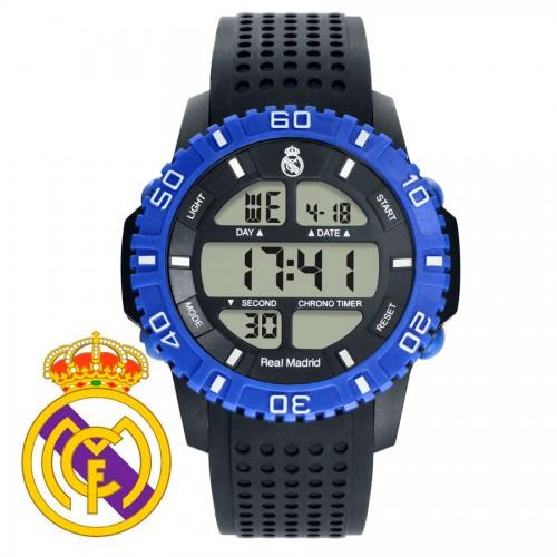 Reloj Chico Real Madrid Digital Azul Correa Negra