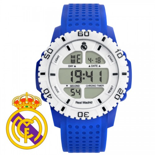 Reloj Chico Real Madrid Digital Blanco Correa Azul