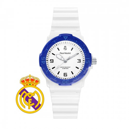 Reloj Real Madrid Azul Correa Blanca