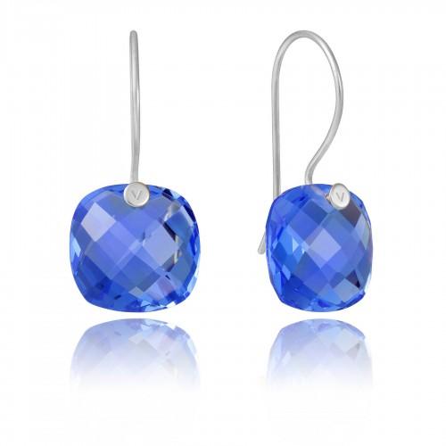 Pendientes Plata Viceroy Cristal Azul