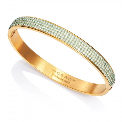 Brazalete Viceroy Dorado Cristales Verdes