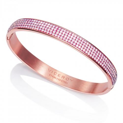 Brazalete Viceroy Dorado Cristales Rosa
