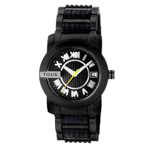Reloj Tous Acero Negro Oto Round