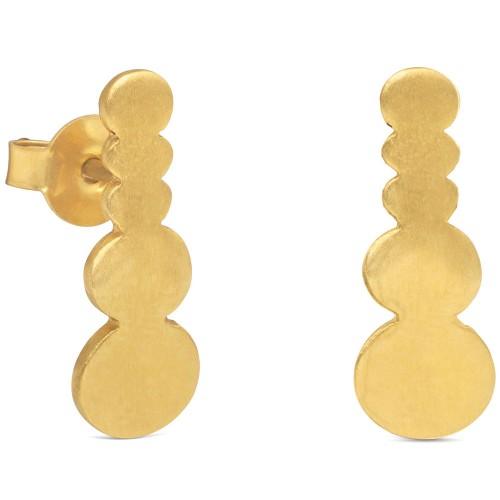 Pendientes Dorados Joid'Art Pebbles Círculos