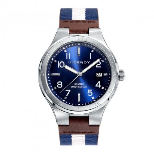 Reloj Viceroy Deportivo Chico Correa Tela Azul Blanca