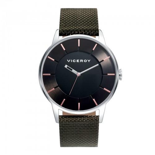 Reloj Viceroy Negro Correa Tela Verde