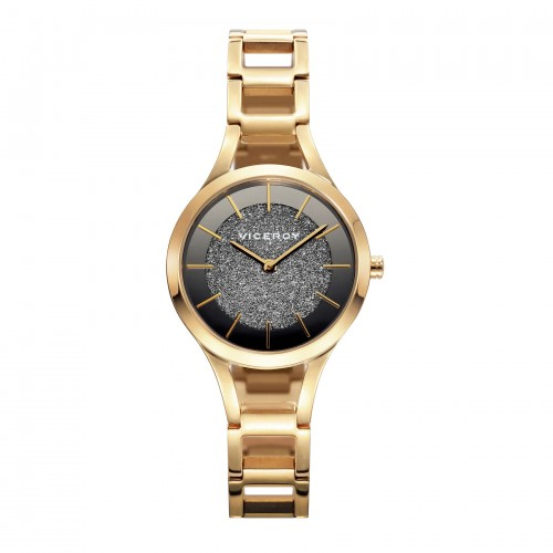 Reloj Viceroy Chica Dorado con Brazalete