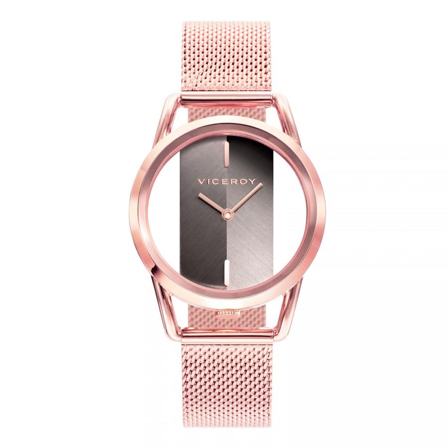 Reloj Viceroy Chica Dorado Brazalete Malla Acero