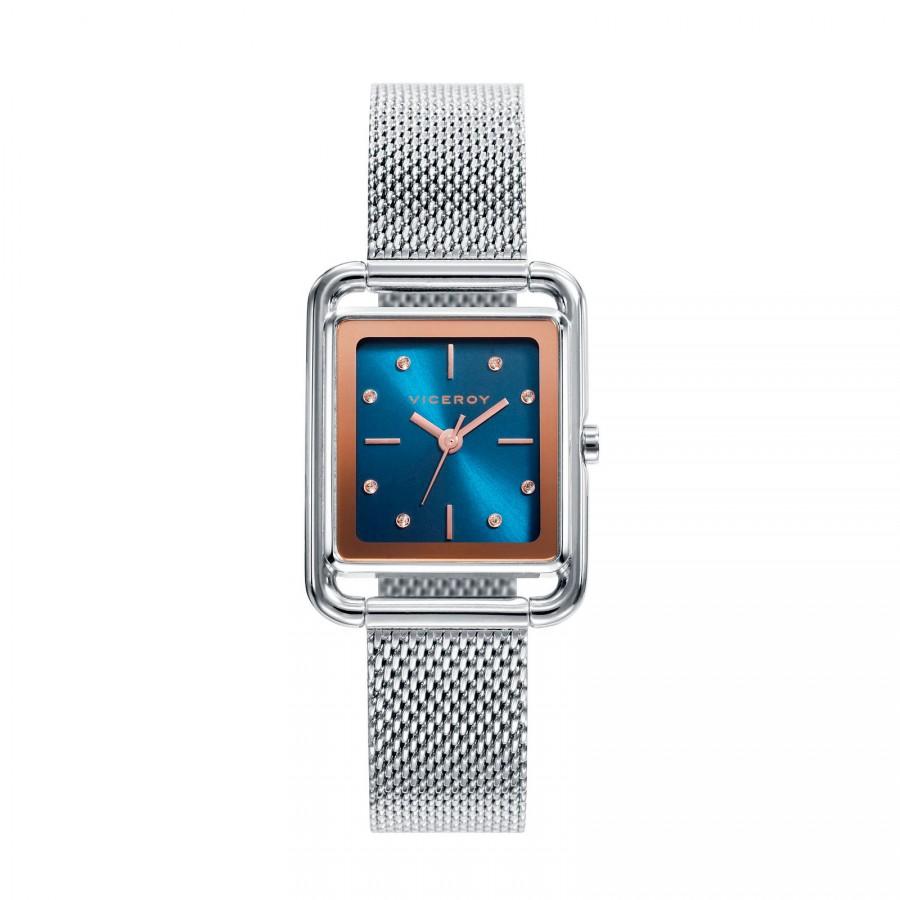 Reloj para chica Viceroy cuadrado con brazalete de malla de acero