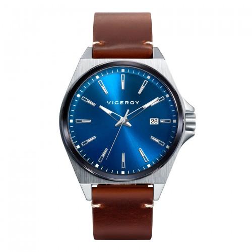 Reloj Viceroy Azul Correa Marrón
