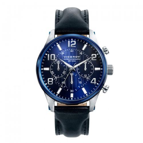 Reloj Viceroy Azul Deportivo Correa Negra