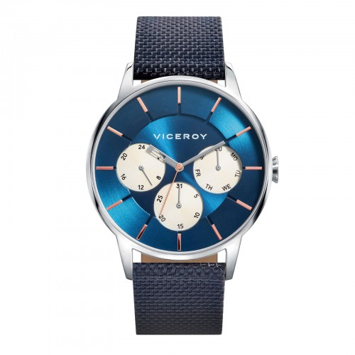 Reloj Viceroy Chico Acero con Correa de Tela Azul