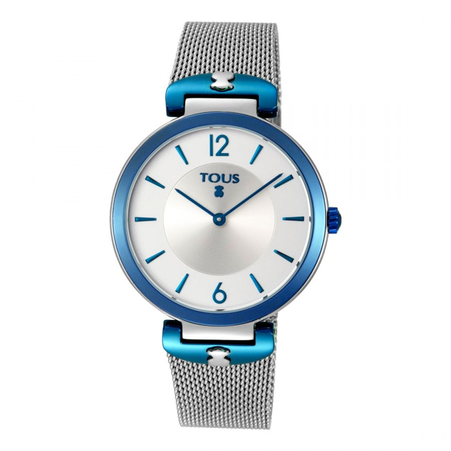 Reloj Tous S-Mesh azul de acero con Brazalete de Malla