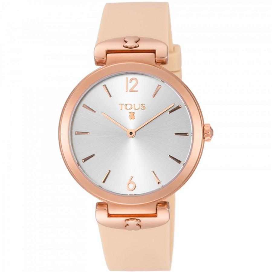 Reloj Tous S-Mesh dorado con correa rosa