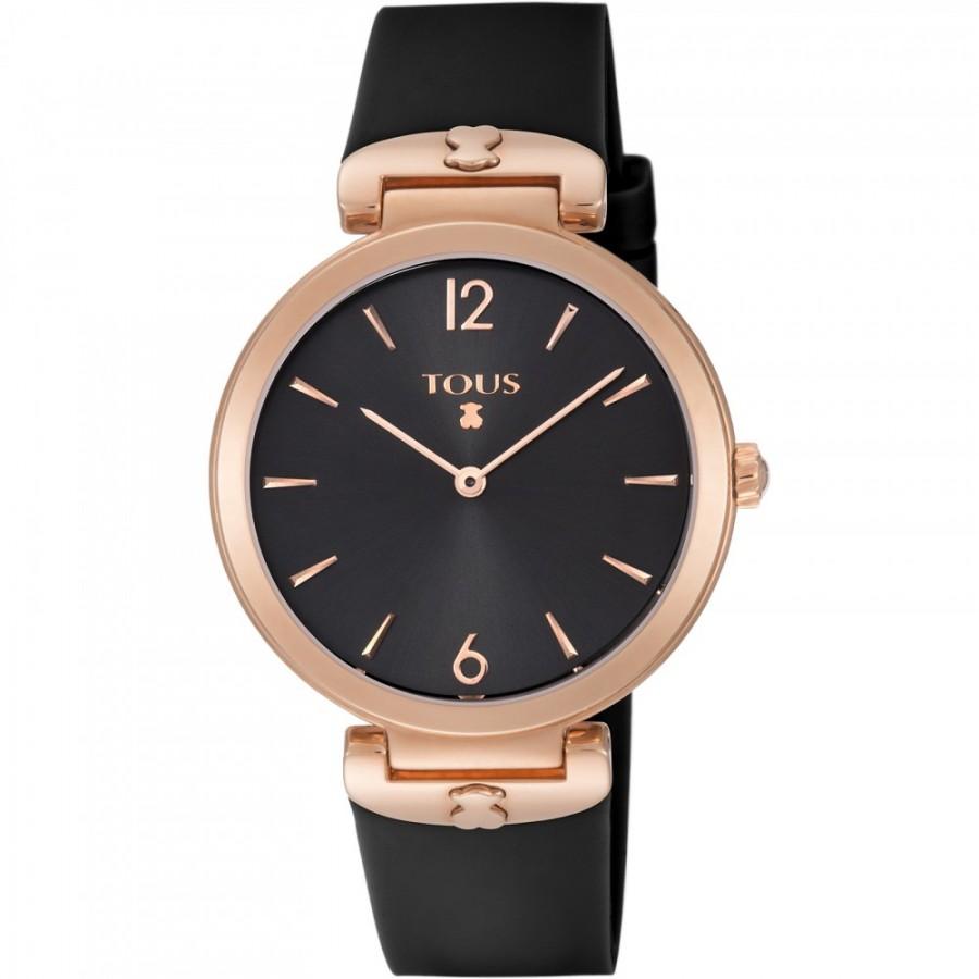 Reloj Tous S-Mesh dorado con correa negra