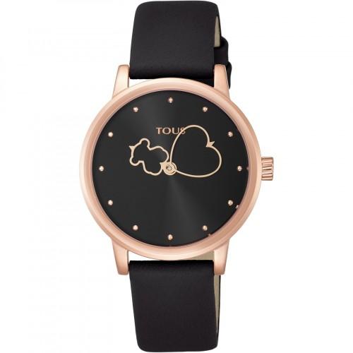 Reloj Tous Bear Time Dorado Correa Negra