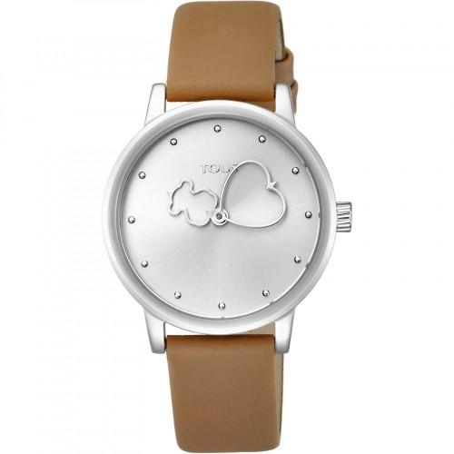 Reloj Tous Bear Time Acero Correa Marrón