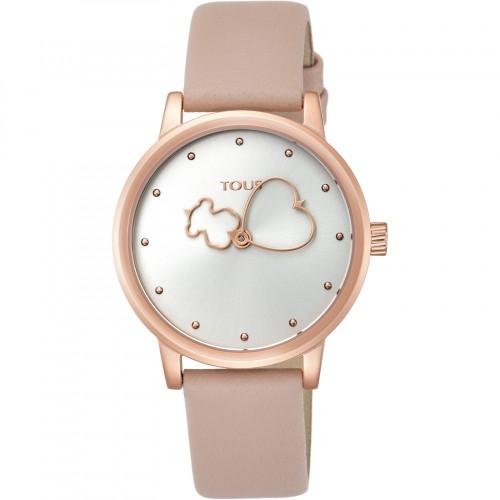 Reloj Tous Bear Time Dorado Correa Rosa
