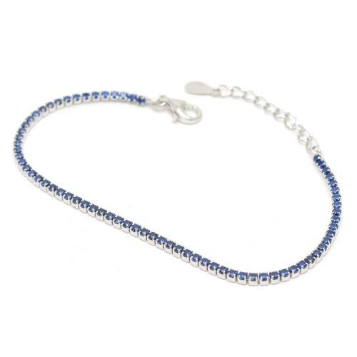 Pulsera Plata Riviere Azul Circonitas