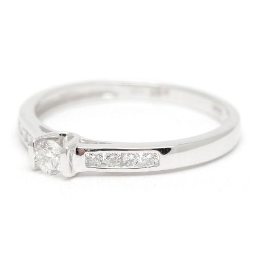 Sortija Oro Blanco Solitario Diamantes para mujer