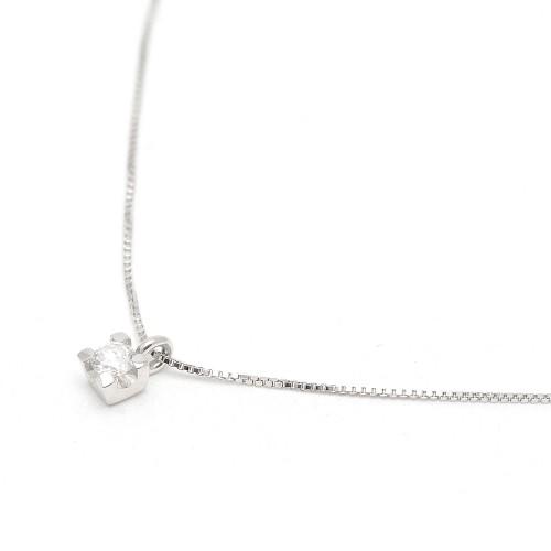 Gargantilla Oro Blanco Diamante