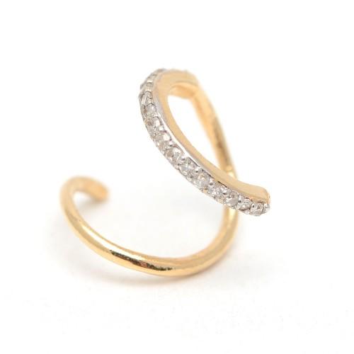 Pendiente Oro LeCarré Espiral Diamantes