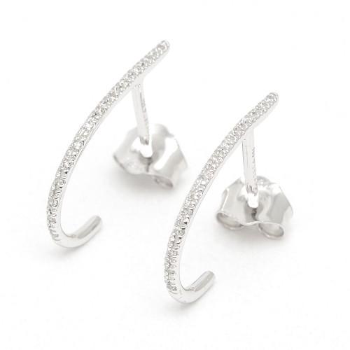 Pendientes Oro Blanco LeCarré Criolla Diamantes