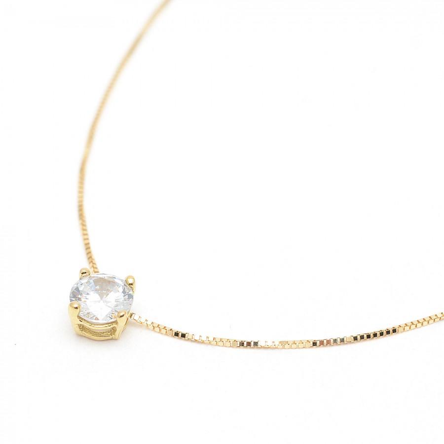 c8109a098f13 Gargantilla de oro con circonita