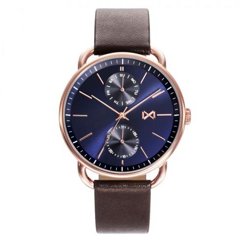 Reloj Mark Maddox Dorado Azul Correa Marrón