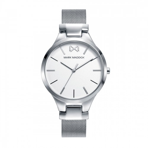 Reloj Mark Maddox Blanco Brazalete Malla Acero