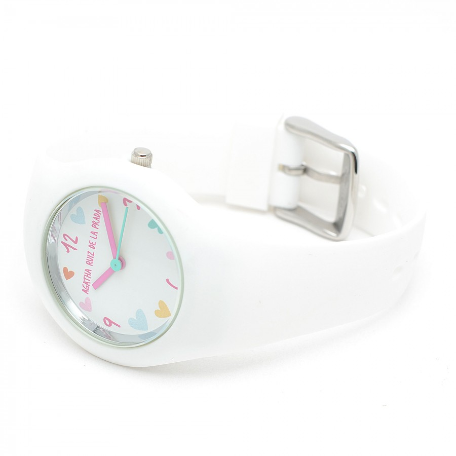 Reloj de Agatha blanco con correa de goma