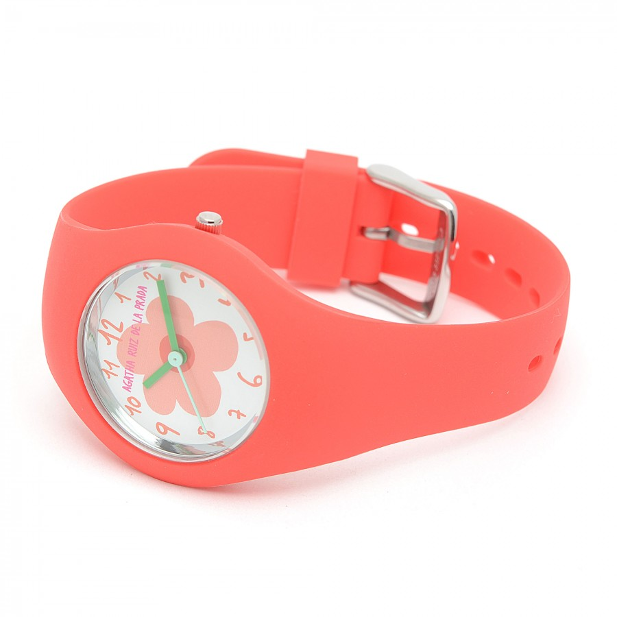 Reloj de Agatha rojo con correa de goma