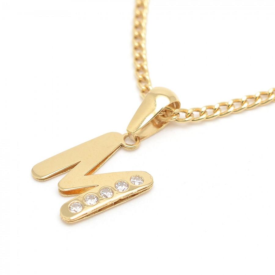 5c69d1761141 Colgante Oro Inicial Letra Circonitas
