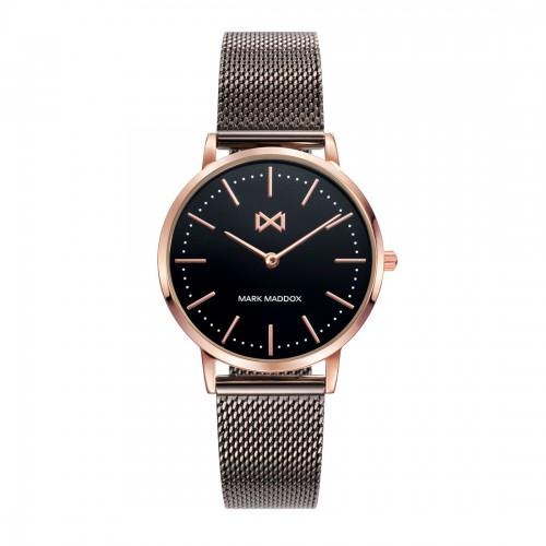 Reloj Mark Maddox Dorado Negro Brazalete Malla