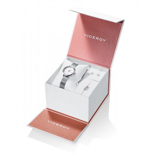 Estuche Reloj Viceroy Niña con Conjunto de Plata