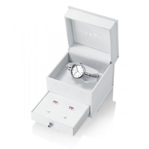 Estuche Reloj Viceroy Niña con Pendientes de Plata