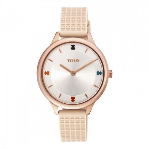 Reloj Tous Tartan Dorado Correa Rosa