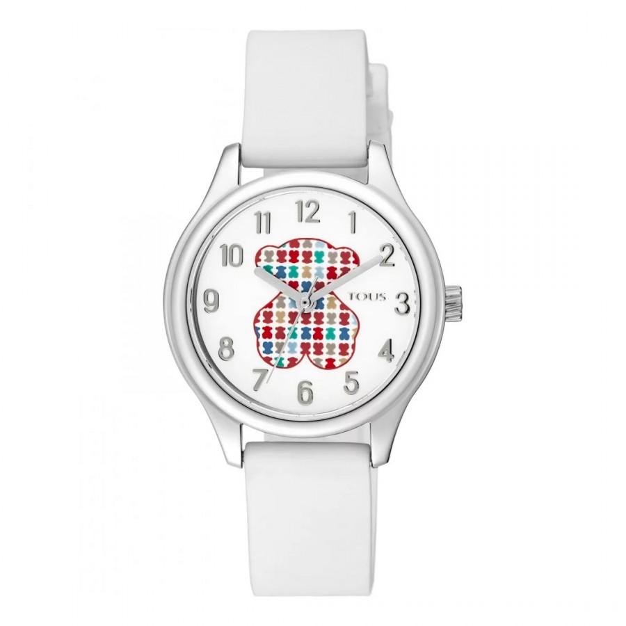 Reloj Tous Niña Tartan Kids Correa Goma Blanca