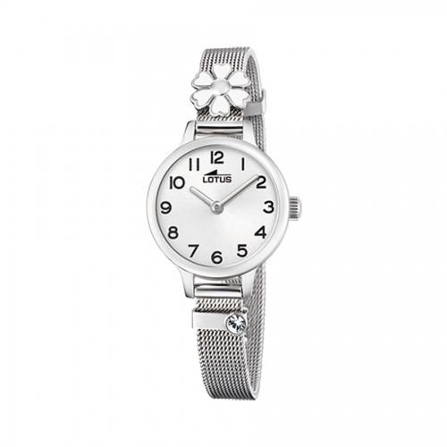 Reloj Lotus Flor Brazalete Malla Acero